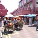Malacca - Stadthuys  +  trishaws- Thumbnail